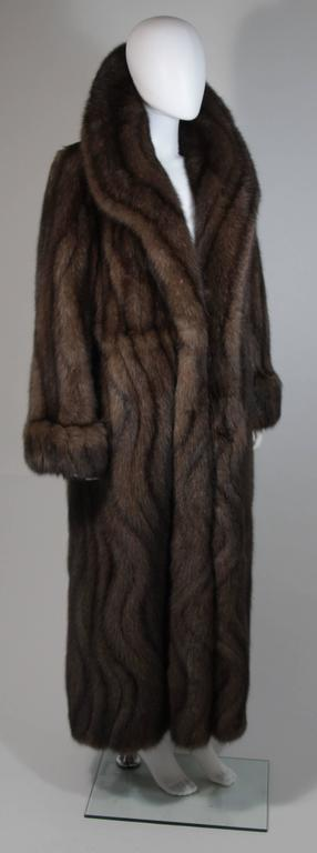 Women's Russian Sable Coat with Wave Pattern Excellent Condition Retail $300,000.00 For Sale