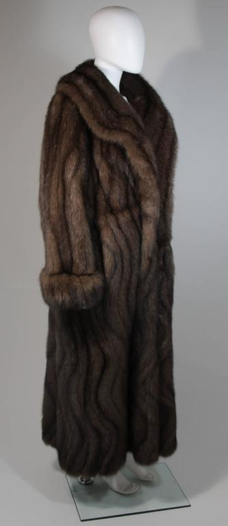 Russian Sable Coat with Wave Pattern Excellent Condition Retail $300,000.00 For Sale 1