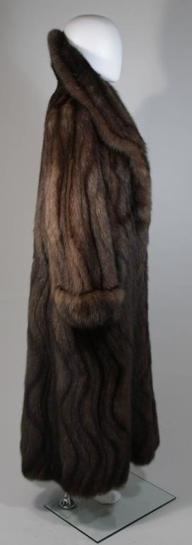 Russian Sable Coat with Wave Pattern Excellent Condition Retail $300,000.00 For Sale 2