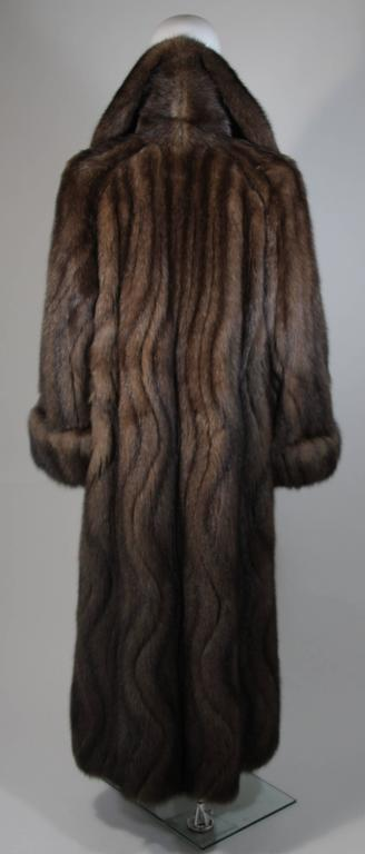 Russian Sable Coat with Wave Pattern Excellent Condition Retail $300,000.00 For Sale 4