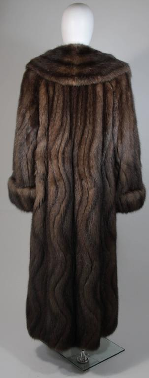 Russian Sable Coat with Wave Pattern Excellent Condition Retail $300,000.00 For Sale 3