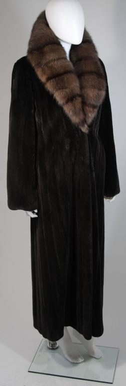 Valentino Female Black Forest Mink Coat with Sable Collar In Excellent Condition For Sale In Los Angeles, CA