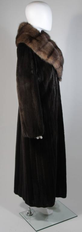 Valentino Female Black Forest Mink Coat with Sable Collar For Sale 2