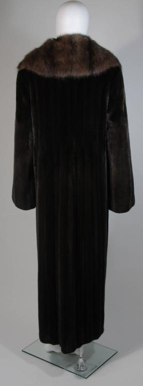 Valentino Female Black Forest Mink Coat with Sable Collar For Sale 3