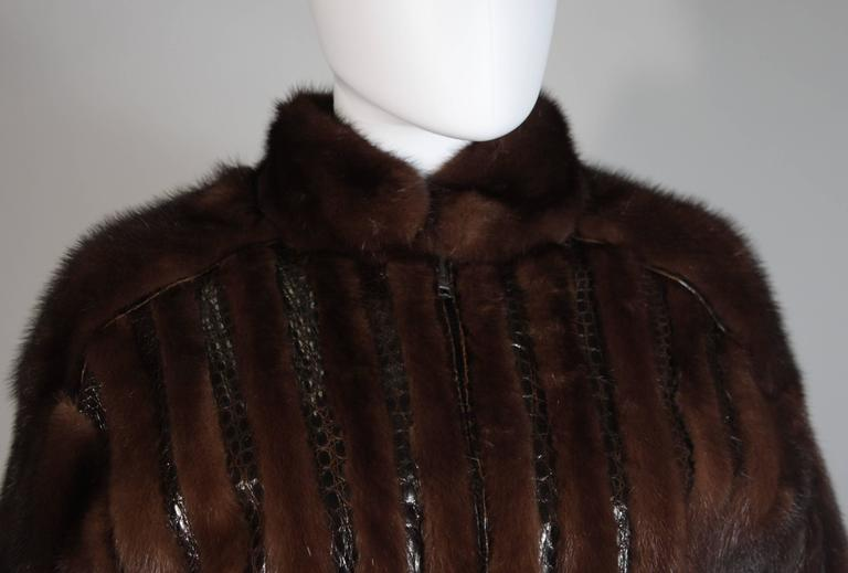 Giorgio Sant'Angelo Mink and Alligator Sports Coat with Leather In Excellent Condition For Sale In Los Angeles, CA