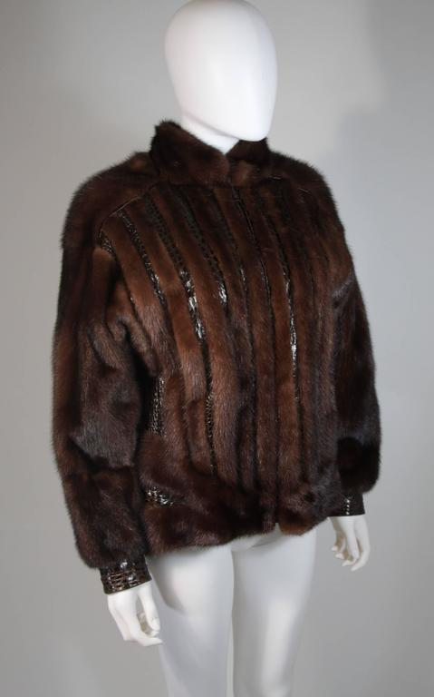 Women's Giorgio Sant'Angelo Mink and Alligator Sports Coat with Leather For Sale