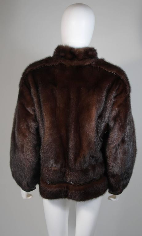 Giorgio Sant'Angelo Mink and Alligator Sports Coat with Leather For Sale 2