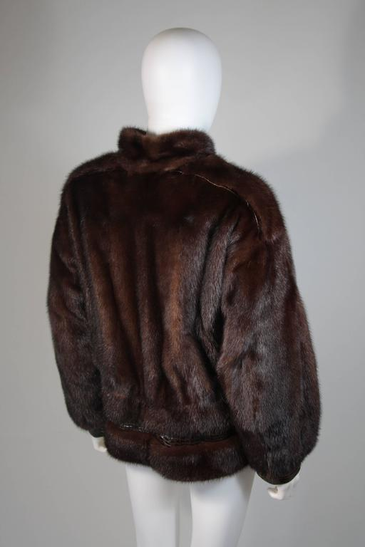 Giorgio Sant'Angelo Mink and Alligator Sports Coat with Leather For Sale 1