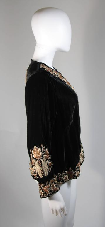 Women's Velvet Jacket with Metallic Embroidery and Embellishment Size Small Medium Large For Sale