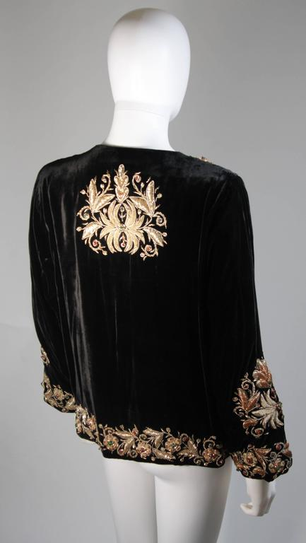 Velvet Jacket with Metallic Embroidery and Embellishment Size Small Medium Large 6