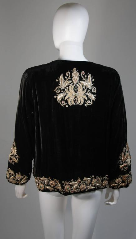 Velvet Jacket with Metallic Embroidery and Embellishment Size Small Medium Large 7