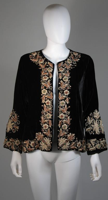 Velvet Jacket with Metallic Embroidery and Embellishment Size Small Medium Large 8