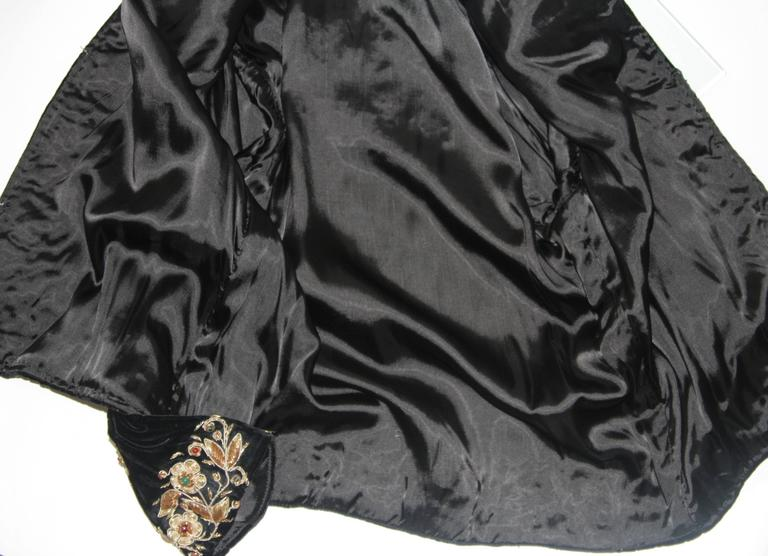 Velvet Jacket with Metallic Embroidery and Embellishment Size Small Medium Large 9