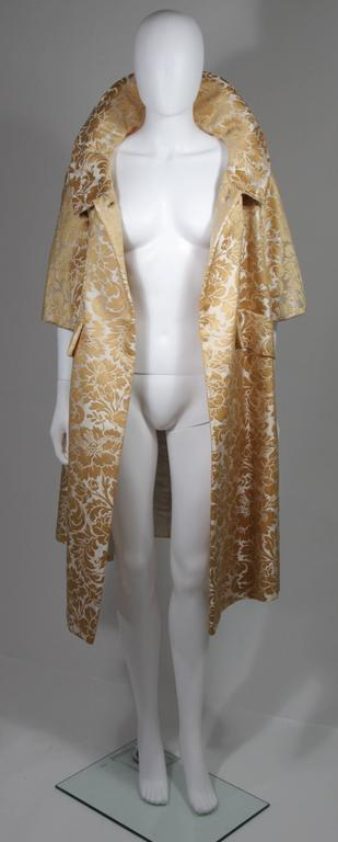 Samuel Winston Gold and Cream Brocade Evening Ensemble Size Small  For Sale 4