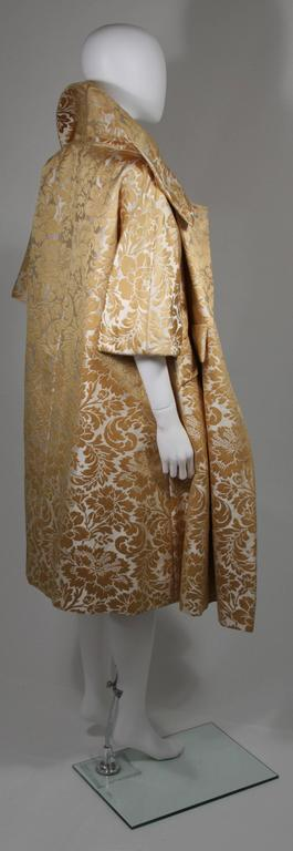 Samuel Winston Gold and Cream Brocade Evening Ensemble Size Small  For Sale 1