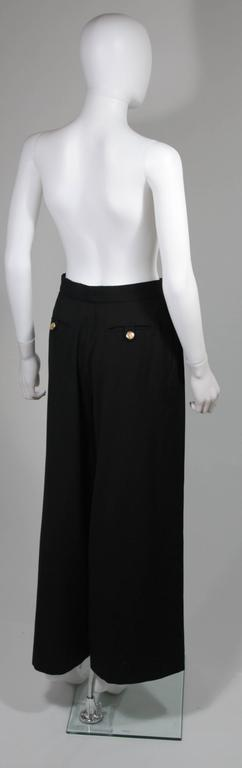 Chanel Black Wide Leg Pleated Slacks with Gold hardware Size Small 26 For Sale 2