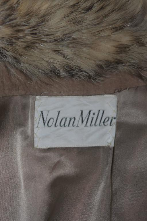 Nolan Miller Brown Suede Cloak with Fox Fur Collar  For Sale 4