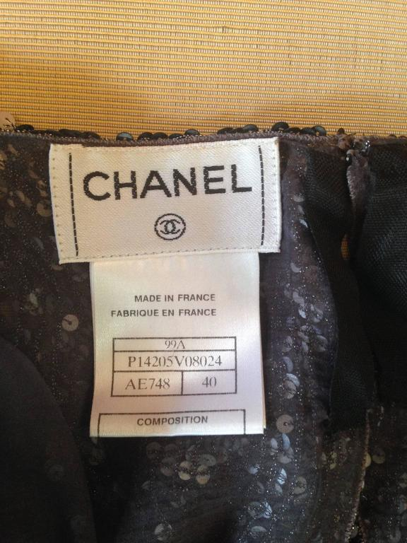 Chanel 1999A Pewter/Silver Sequin Top    FR 40 10