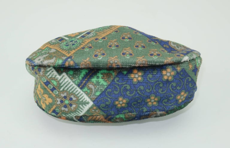 Vintage Bohemian Italian Velvet Jewelry Pouch For Sale 2