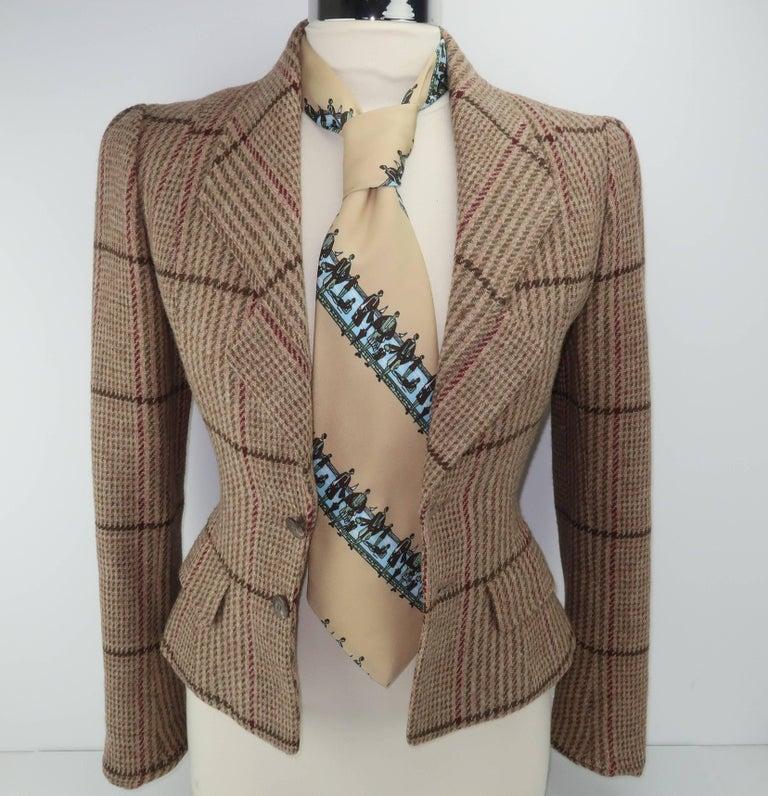 Circa 1970 Italian Art Deco Revival Men's Wide Necktie For Sale 3