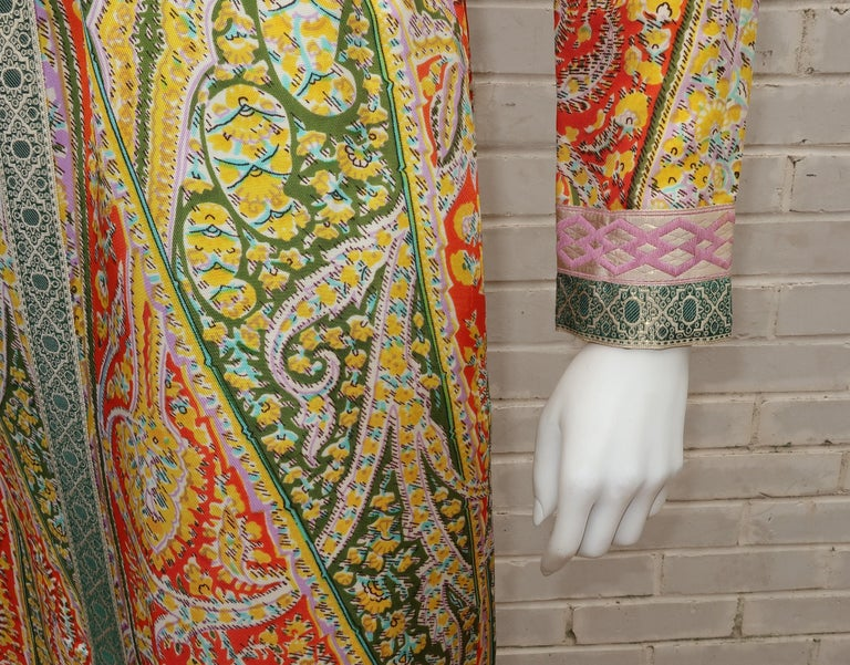 Eloise Curtis Exotic Mod Paisley Tunic Dress and Pant Suit, 1960s  For Sale 3