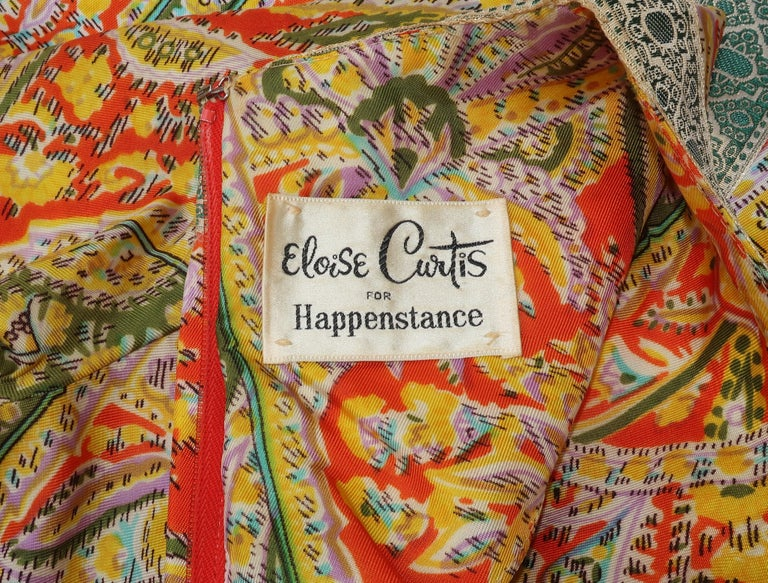 Eloise Curtis Exotic Mod Paisley Tunic Dress and Pant Suit, 1960s  For Sale 10