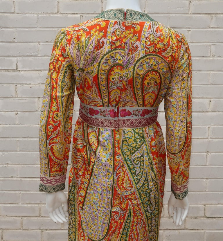 Eloise Curtis Exotic Mod Paisley Tunic Dress and Pant Suit, 1960s  For Sale 5