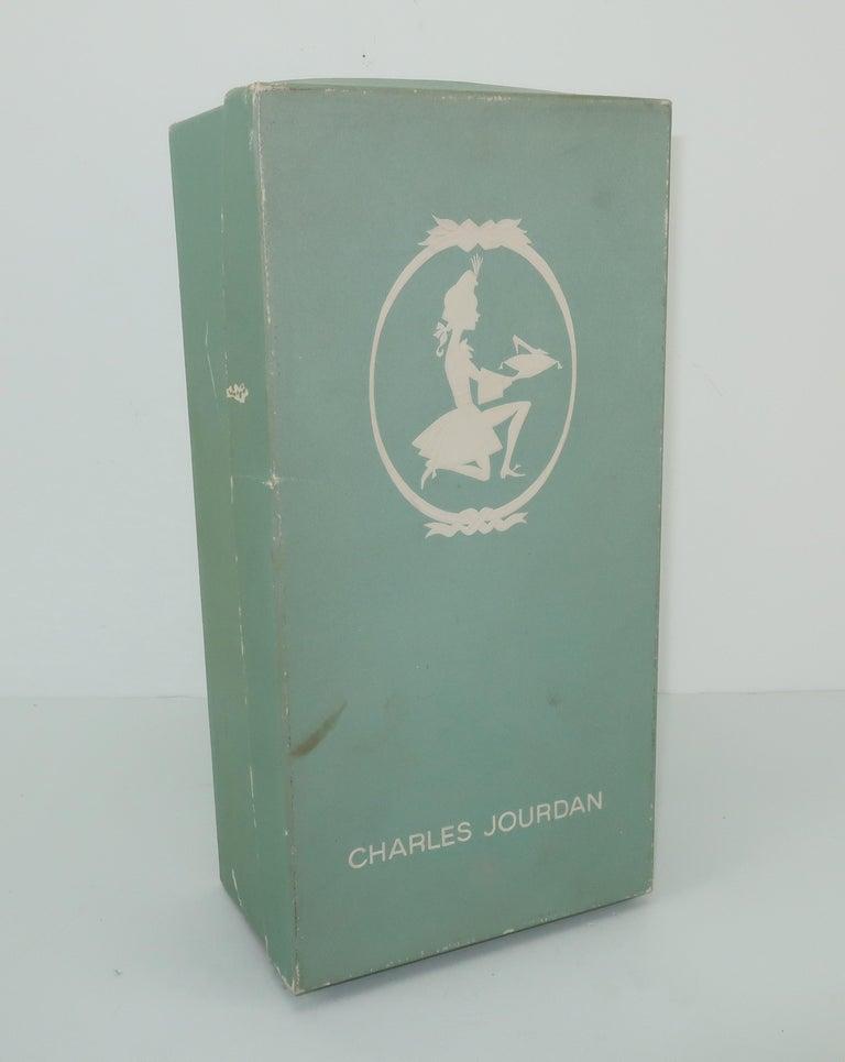C.1960 Charles Jourdan Black Crocodile Heeled Loafers Shoes For Sale 10