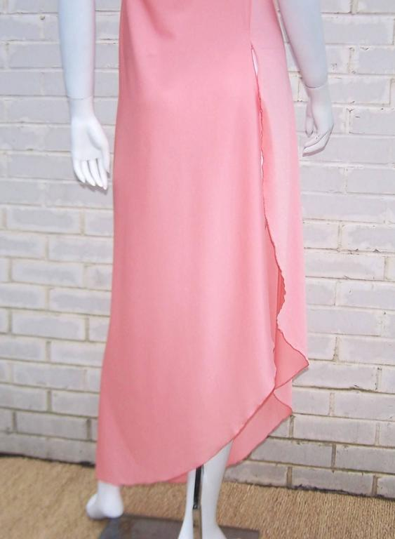 1970s Stephen Burrows Disco Era Grecian One-Shoulder Gown For Sale 2