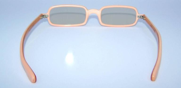 1960's Mod French Fleshtone Peach Sunglasses 5