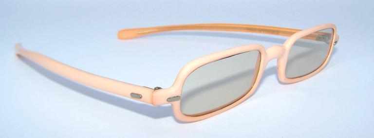1960's Mod French Fleshtone Peach Sunglasses For Sale 1