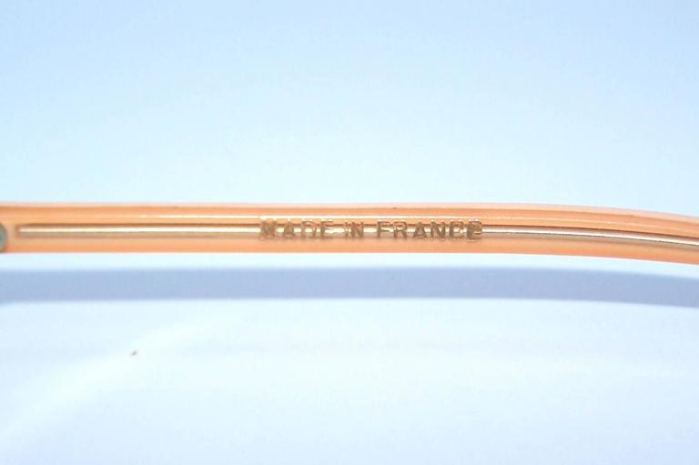 1960's Mod French Fleshtone Peach Sunglasses For Sale 2