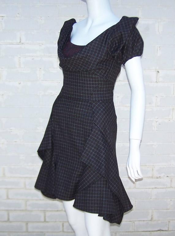 Flirty Zac Posen Punk Style Micro Plaid Dress 4