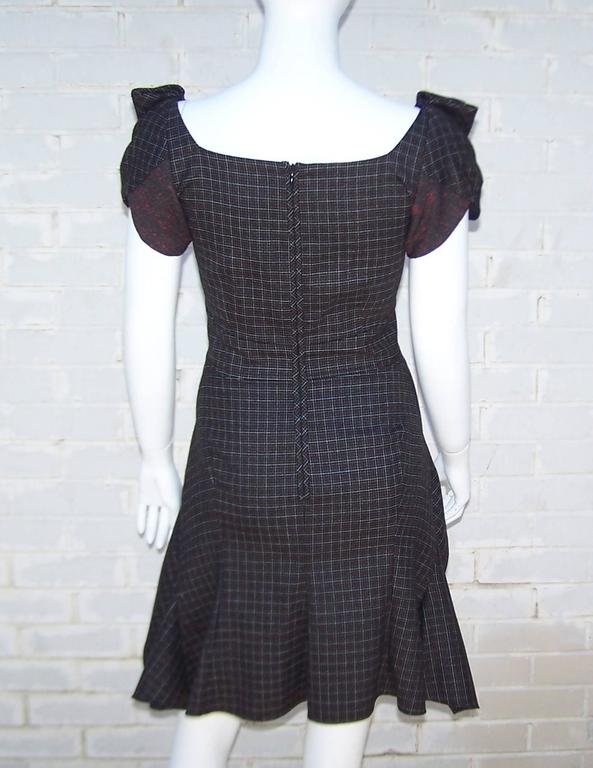 Flirty Zac Posen Punk Style Micro Plaid Dress 5
