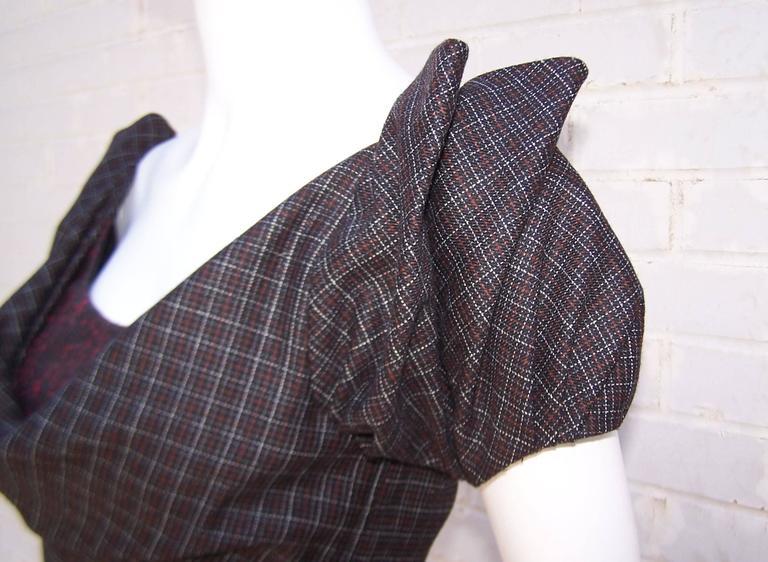 Flirty Zac Posen Punk Style Micro Plaid Dress 7