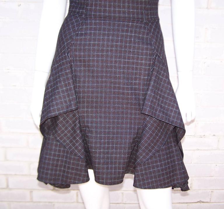 Flirty Zac Posen Punk Style Micro Plaid Dress 9
