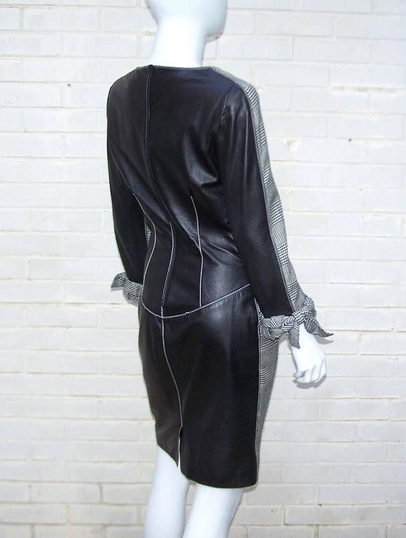 C.1990 Alma Couture 'Business In The Front Party In The Back' Leather Dress For Sale 1
