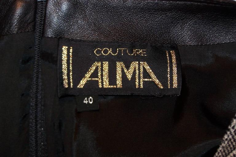 C.1990 Alma Couture 'Business In The Front Party In The Back' Leather Dress For Sale 5