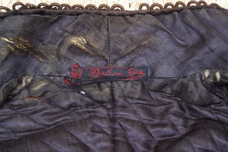 Amazing C.1900 Victorian Velvet Mantle Coat With Soutache & Lappet Tails For Sale 5