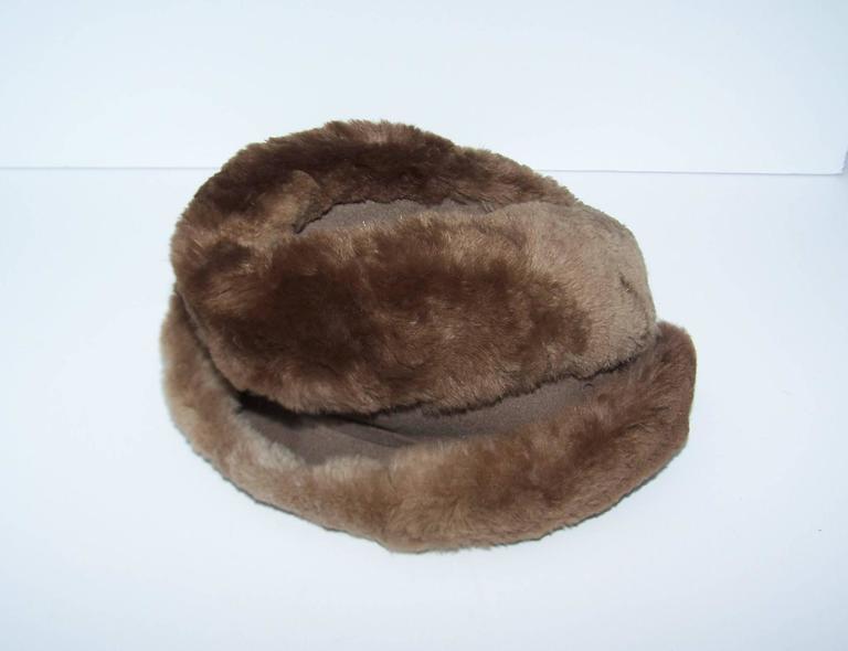 Ultra Stylish 1940's Rose Kraysler Sheared Beaver Fur Hat For Sale 2