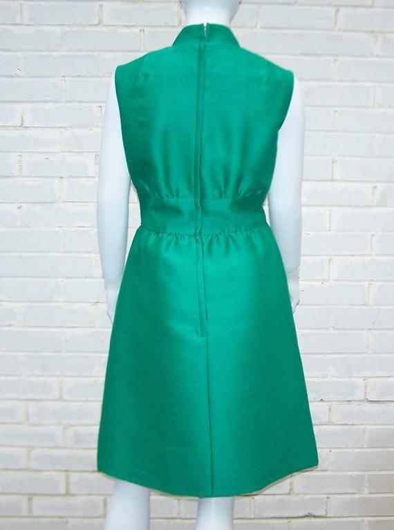 1960 S Teal Green Mandarin Style Cocktail Dress At 1stdibs