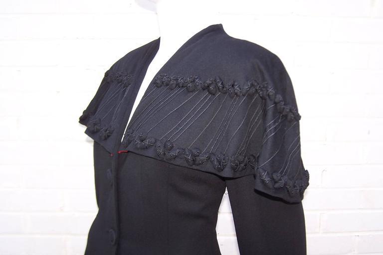 1940's Eisenberg Victorian Style Capelet Princess Coat For Sale 1