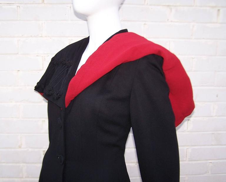 1940's Eisenberg Victorian Style Capelet Princess Coat For Sale 2