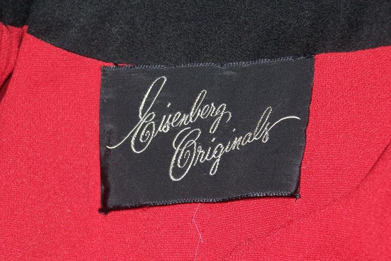 1940's Eisenberg Victorian Style Capelet Princess Coat For Sale 5
