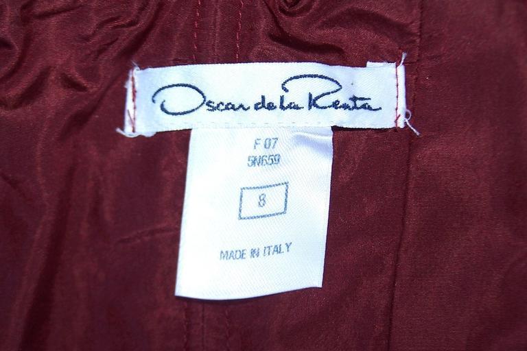 C.2000 Oscar de la Renta Aubergine Silk Taffeta Princess Dress 10