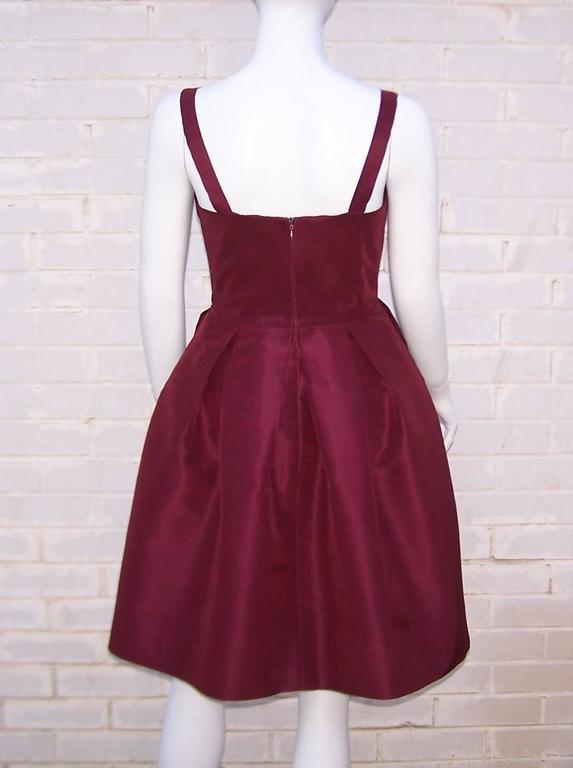 C.2000 Oscar de la Renta Aubergine Silk Taffeta Princess Dress 5