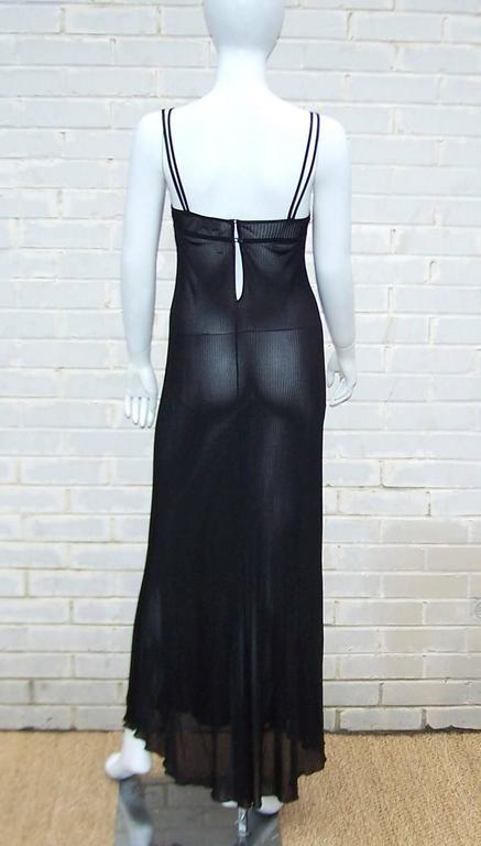 Women's Seductive 1990's Hanro of Switzerland Black Negligee Dressing Gown