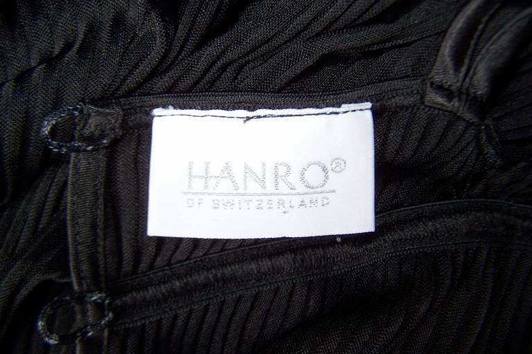 Seductive 1990's Hanro of Switzerland Black Negligee Dressing Gown 4