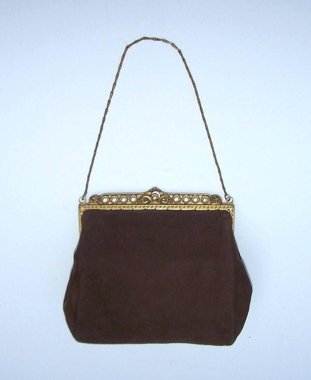 Trinity Plate Produced Handmade Gilt Metal Framed Handbags From The Early 1900 S Into 1930