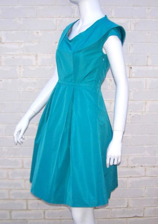 Girlish Miu Miu Aqua Blue Taffeta Party Dress  4
